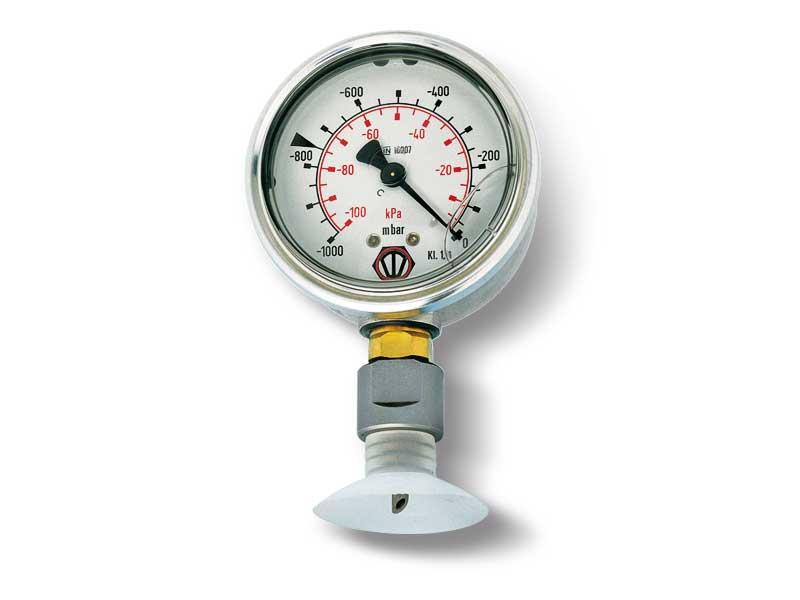 Vacuómetro con punzón de acero