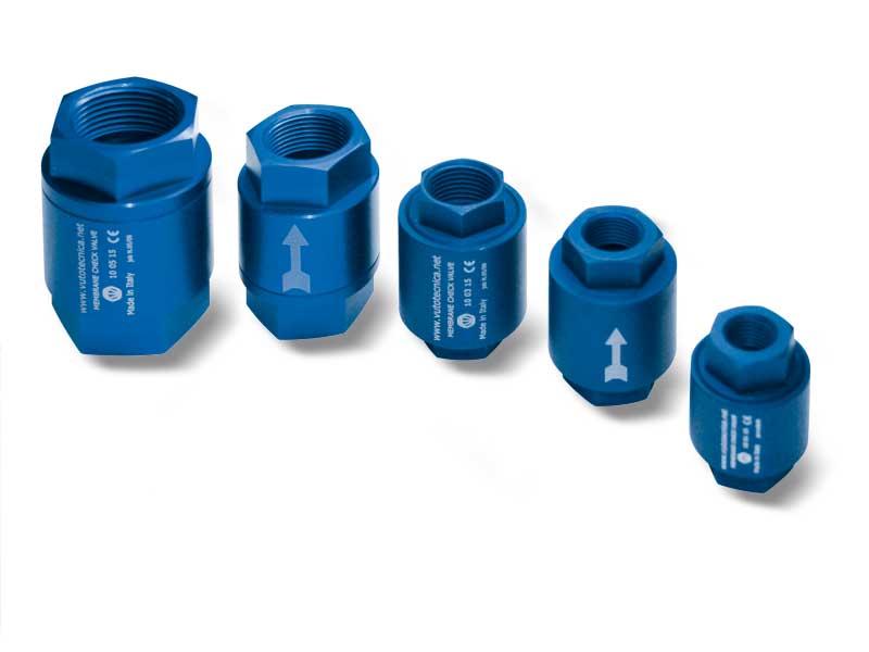 Válvulas de retención de membrana