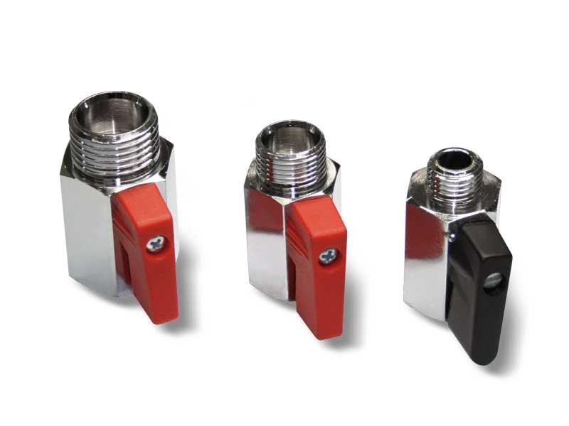 Válvulas de vacío manuales pequeñas de 2 vías