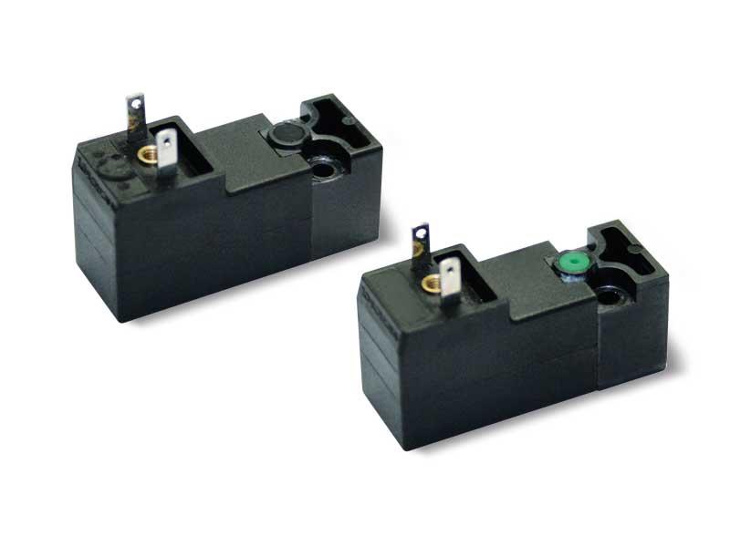 Electropilotos con bobina eléctrica de baja absorción integrada