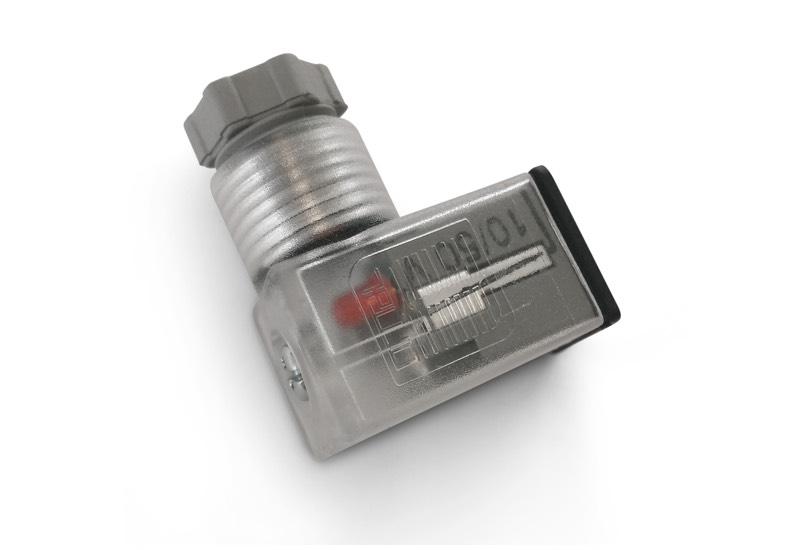 Electropilotos con válvulas de interfaz y conectores micro en 175301 - 803 (ex din 43650) - c, para bobinas de electropilotos
