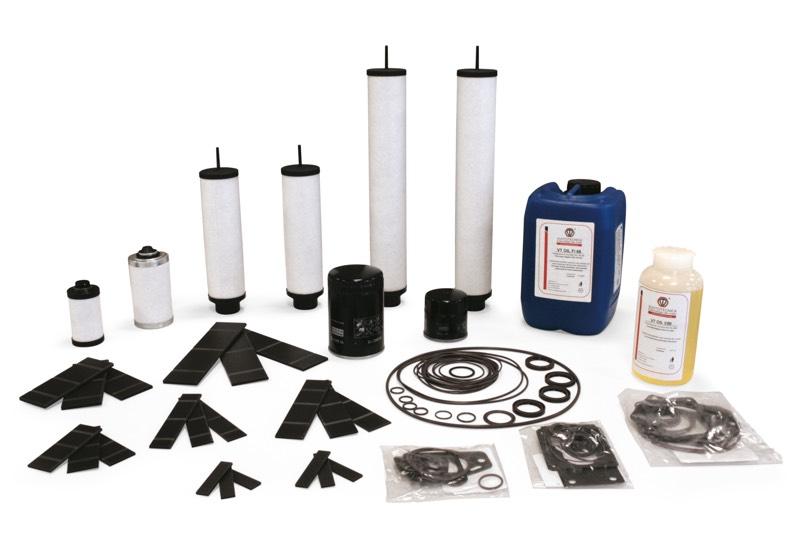 Accesorios y repuestos para bombas para vacío lubricadas