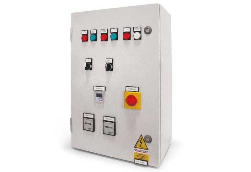 Equipo eléctrico de mando para depresores con dos bombas