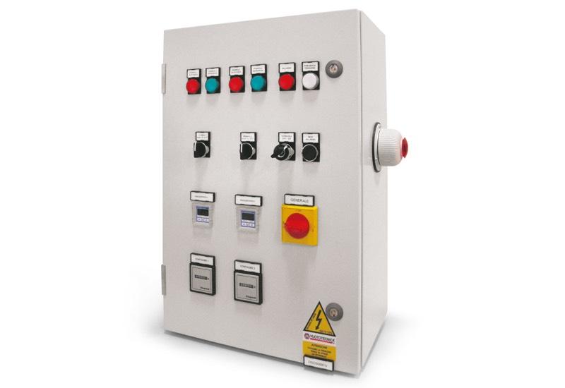 Equipo eléctrico de mando para depresores de seguridad con dos bombas