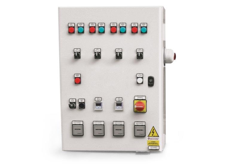Equipo eléctrico de mando para depresores de seguridad con cuatro bombas