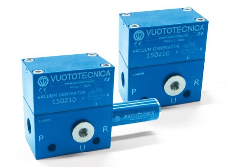 Generadores de vacío de una etapa con expulsor 15 02 10, 15 02 10 LP y 15 02 15  LP