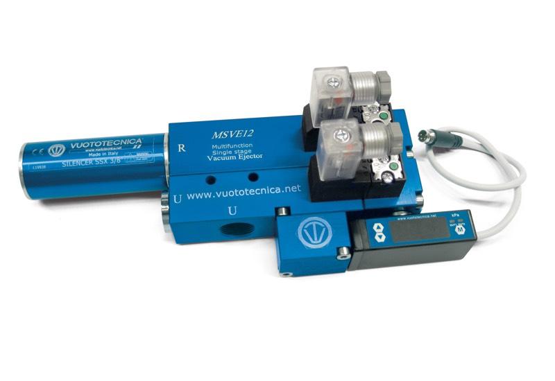 Generadores de vacío de una etapa y multifunción MSVE 8 y MSVE 12