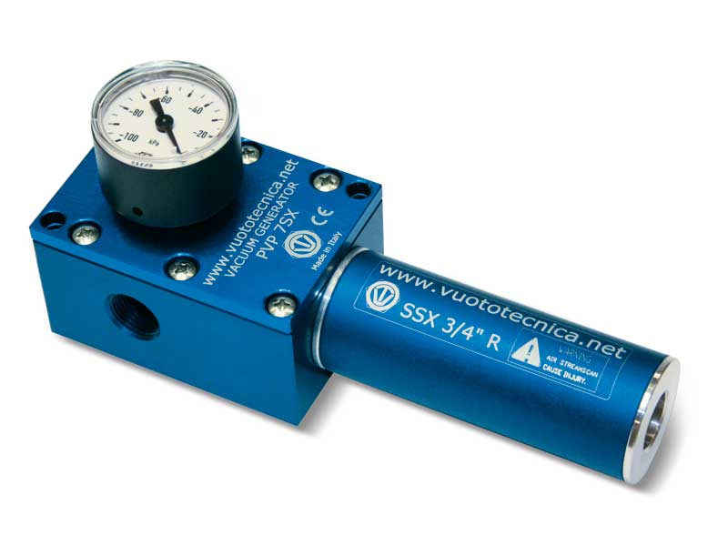 Generadores de vacío de una etapa PVP 7, PVP 14 y PVP 18 SX / SXLP