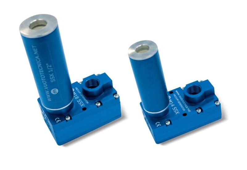 Generadores de vacío multietapa M 10 SSX, M 14 SSX y M 18 SSX
