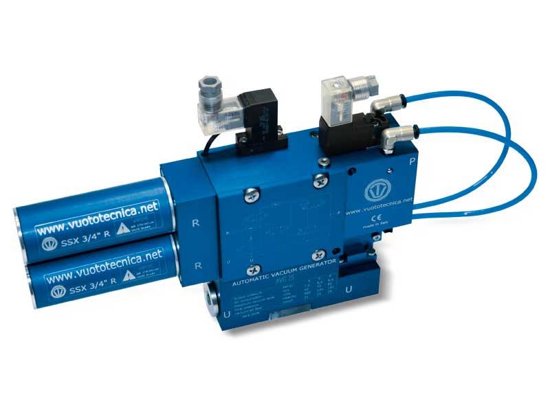 Generadores de vacío de una etapa y multifunción serie AVG - Características generales