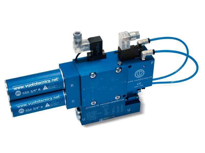 Generadores de vacío de una etapa y multifunción AVG 18 y AVG 25