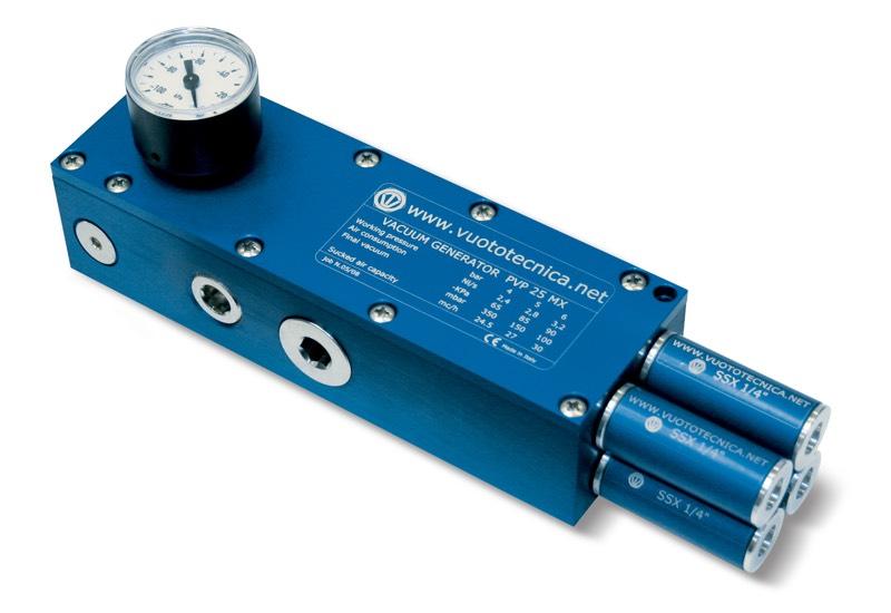 Generadores de vacío multietapa PVP 25 MX / MXLP