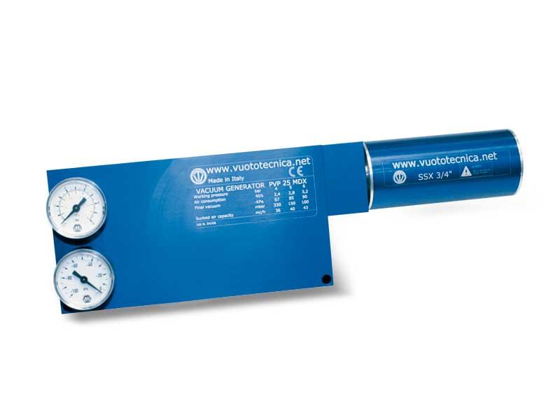Generadores de vacío multietapa PVP 25, PVP 35 y PVP 50 MDX / MDXLP