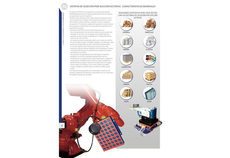 Sistema de sujeción por succión OCTOPUS - Características generales