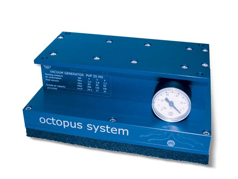 Sistema de sujeción por succión OCTOPUS