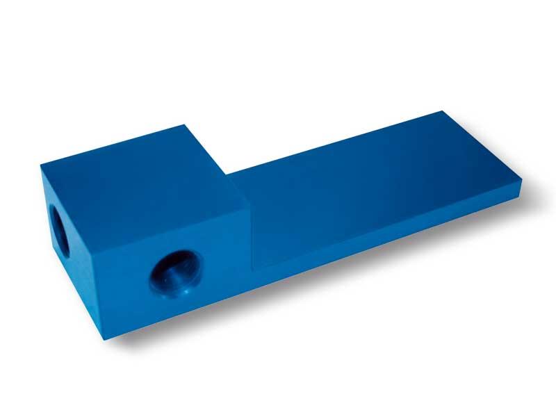 Placa de cierre con distribuidor, para barras de sujeción OCTOPUS sin generador de vacío