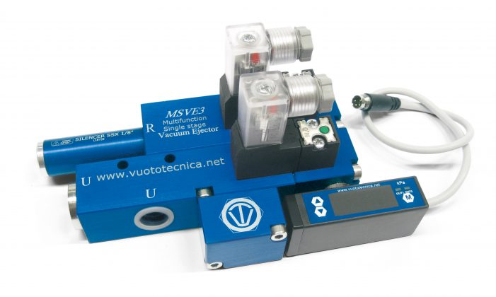 Generadores de vacío de una etapa y multifunción, serie MSVE