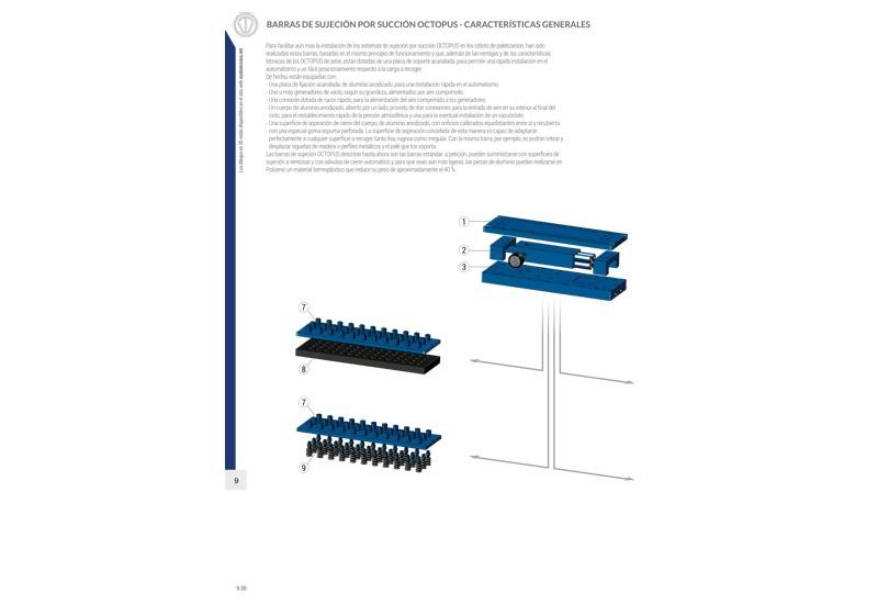 Barras de sujeción por succión OCTOPUS - Características generales