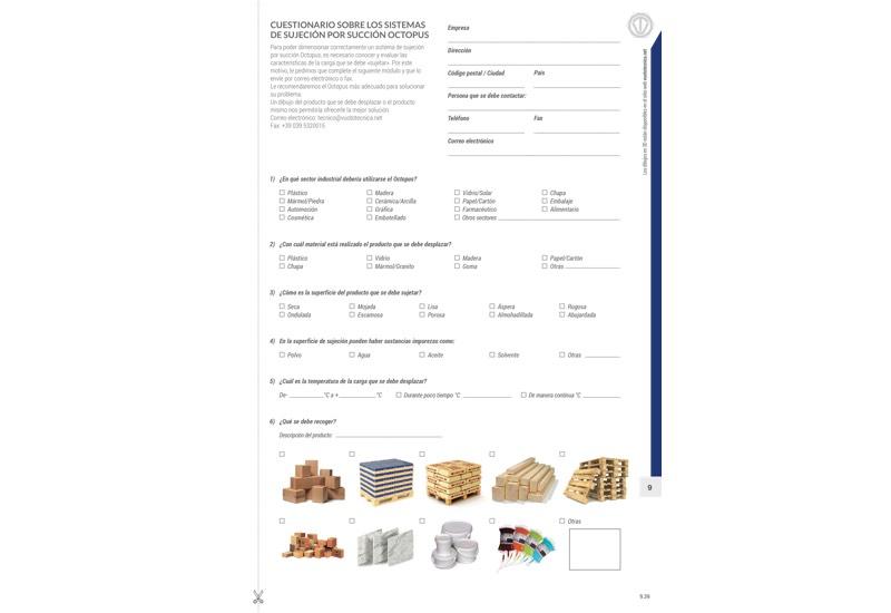 Cuestionario sobre los sistemas de sujeción por succión OCTOPUS