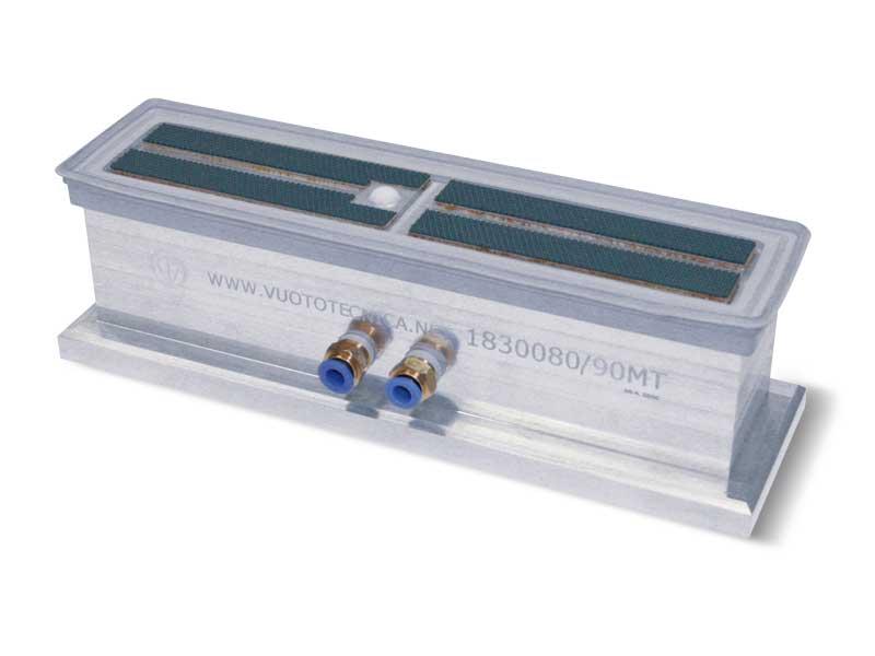 Ventosas rectangulares con obturador esférico y soporte autobloqueante