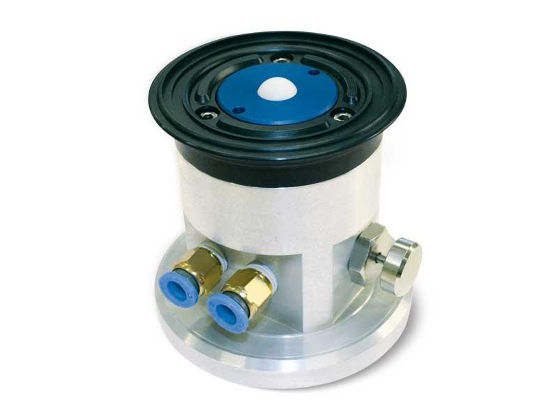 Ventosas redondas con obturador esférico, soporte autobloqueante y botón de desbloqueo, para vidrios